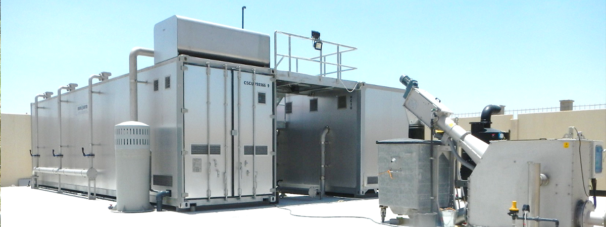 Containerized MBR sewage treatment plant